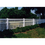 Country Estate Fence, Deck and Railing - Lincolnshire - Picket Style Vinyl Fencing
