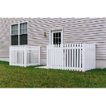 Country Estate Fence, Deck and Railing - Nantucket - Picket Style Vinyl Fencing
