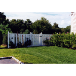 Country Estate Fence, Deck and Railing - Kensington- Semi-Privacy Style Vinyl Fencing