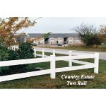 Country Estate Fence, Deck and Railing - 2 Rail Fence - Post & Rail Style Vinyl Fencing