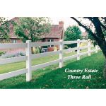 Country Estate Fence, Deck and Railing - 3 Rail Fence - Post & Rail Style Vinyl Fencing