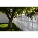 Country Estate Fence, Deck and Railing - Dawson - Semi-Privacy Style Vinyl Fencing