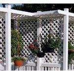 Country Estate Fence, Deck and Railing - Dura-Lattice - Semi-Privacy Style Vinyl Fencing