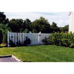 Country Estate Fence, Deck and Railing - Kensington - Semi-Privacy Style Vinyl Fencing