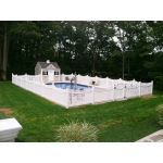 Country Estate Fence, Deck and Railing - Avondale Vinyl Picket Fence
