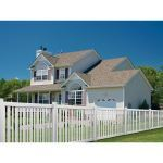 Country Estate Fence, Deck and Railing - Brewster Vinyl Picket Fence