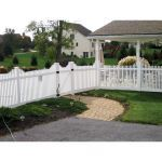 Country Estate Fence, Deck and Railing - Hampton Step Vinyl Picket Fence