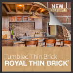 Metropolitan Ceramics by Ironrock - Royal Thin Brick® - Tumbled Thin Brick
