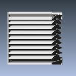 Industrial Louvers, Inc. - Model 537XP 5 Inch Extruded Sightproof Louvers