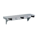 GAMCO - US-2 Utility Shelf with Mop/Broom Holders and Rag Hooks