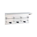 GAMCO - US-6 Utility Shelf with Mop/Broom, 4 Holders and 5 Rag Hooks