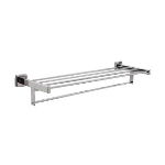 GAMCO - 7676 x 24 Surface-Mounted Towel Shelf with Towel Bar (Bright)