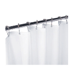 GAMCO - 100SC 42 x 72 White Vinyl Shower Curtain with Grommets