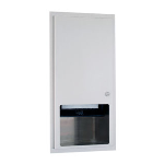 GAMCO - TD-12RP Semi-Recessed Roll Towel Dispenser