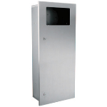 GAMCO - WR-9 Recessed Coverall Waste Receptacle, 3 gal. (11 L)
