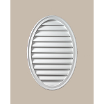 Fypon LLC - Louver Func Oval Vert 18X24X1-5/8 Smooth