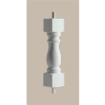 Fypon LLC - Baluster Woodruff 24X4-1/2X4-1/2 Smooth