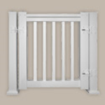Fypon LLC - Gate Kit Dlx W/square Spindle 42X35X4 Wht