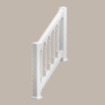 Fypon LLC - Qr Stair Kit Dlx W/square Spindle 3-1/4X42X126 Wht
