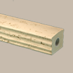 Fypon LLC - Baluster Straight Bottom Rail 5-31/32X4-21/32X95-1/2 Stone