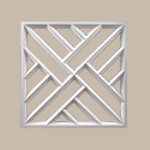 Fypon LLC - Decorative Panel Crosshatch 27-3/4X27-3/4X1-1/2 Smooth
