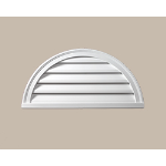 Fypon LLC - Half Round Louver Deco 36X18X2 Smooth