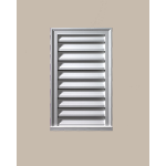 Fypon LLC - Rectangle Vertical Louver Deco 12X24X2 Smooth