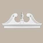 Fypon LLC - Pediment Combo Rams Head 54X23-1/2X3-1/8 Smooth