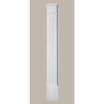 Fypon LLC - Pilaster Fluted Mld Plth 90X9X3 Smooth