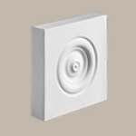 Fypon LLC - Plinth Block Rosette 3-5/8X3-5/8X1-1/8 Smooth