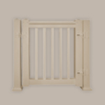 Fypon LLC - Gate Kit Dlx W/square Spindle 42X35X4 Tan