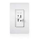 Lutron Electronics Co., Inc. - Quiet 3-speed Fan Control / Dimmer - Designer Style - S2‑LF‑CSA