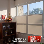 Draper, Inc. - Bottom-Up Flex Shade - Manual / Motorized Operation