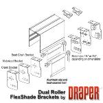 Draper, Inc. - Dual Roller FlexShade Brackets