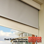 Draper, Inc. - Dual Roller FlexShade with Fascia