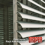 Draper, Inc. - FlexLouver™ Rack Arm Non-Retractable Louver System