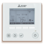 Mitsubishi Electric HVAC - Backlit Wired Remote Controller (PAR-33MAA) - Zone Controller