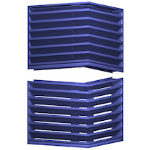 Architectural Louvers - V6JF Hurricane Screens - Equipment Screens