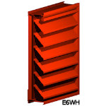 Architectural Louvers - E6WH Wall Louvers