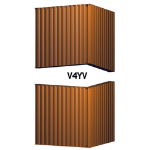 Architectural Louvers - V4YV Equipment Screens - Equipment Screens