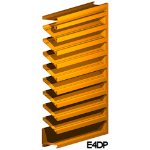 Architectural Louvers - E4DP Wall Louvers
