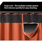 Construction Specialties - Snap-Lock Cubicle Curtains