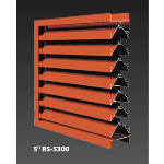 "Construction Specialties - 5"" RS-5300 Storm Resistant Louvers"