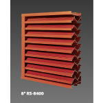 "Construction Specialties - 8"" RS-8400 Storm Resistant Louvers"