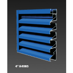 "Construction Specialties - 4"" A4085 Non-Drainable Louvers"