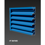 "Construction Specialties - 4"" A4105 Non-Drainable Louvers"