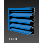 "Construction Specialties - 4"" A4115 Non-Drainable Louvers"