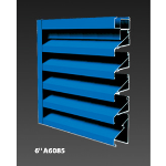 "Construction Specialties - 6"" A6085 Non-Drainable Louvers"
