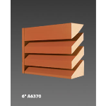 "Construction Specialties - 6"" A6370 Acoustical Louvers"