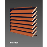 "Construction Specialties - 8"" A8860 Acoustical Louvers"